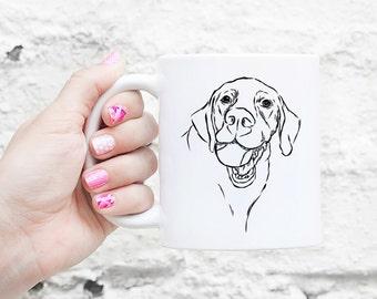 Bailey Lab Dog Mug - Gifts For Dog Owner, Labrador Lover, Labrador Mug, Labrador Art, Labrador Gift, Dog Art, Lab lover gift, Dog Lover