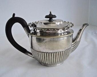 England Antique Teapot John Round & Son 1874-1886 Silver Plate 03187