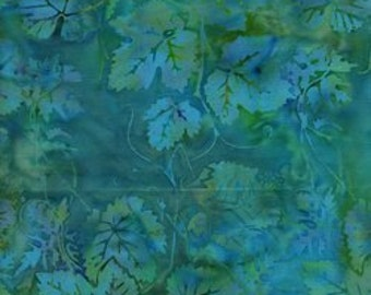 Island Batik - Blue Green- Leaves Is14T-J1