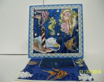 Decorative easel card