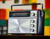 Bluetooth 1950s Kor Sonic Portable Rechargeable Boombox Radio