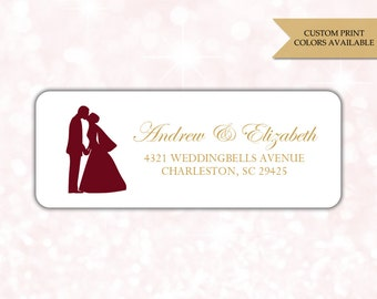 Wedding return address labels (30) - Return address sticker - Adress labels wedding - Address stickers - RSVP stickers (AW009)