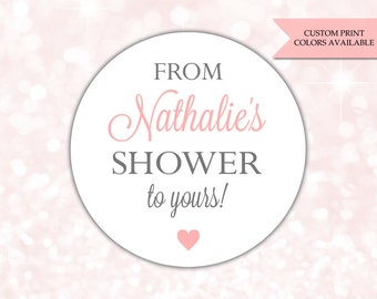 From my shower to yours stickers - Soap labels - Baby shower soap favors - Bridal shower soap favors (RW077)