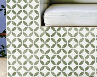 TSUNAGI (C) Furniture Wall Floor Craft Stencil - Japanese Geometric Stencil - TS003