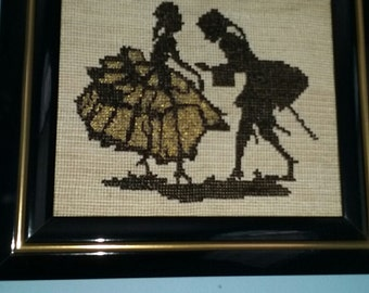 Hand beaded/stitched artwork