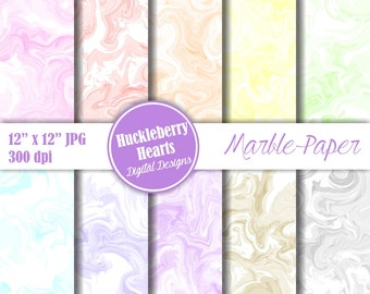 80% OFF SALE Swirl Paper, Marble Paper, Pastel Marble, Marble Backgrounds, Printable, Commercial Use