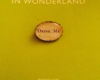 "Alice in Wonderland ""Drink Me"" Brooch"