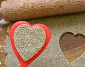 PAISLEY - embossing rolling pin, laser engraved rolling pin. Indian paisley pattern.