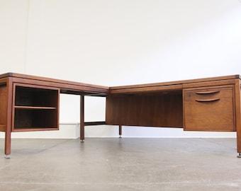 SOLD-----Jens Risom Executive desk with return Knoll, Herman Miller Eames----SOLD