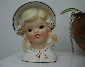 Beautiful Petite Vintage Head Vase