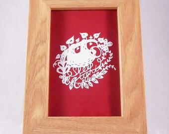 Sloth Papercut - unframed - paper cut out, wall art, paper cut, papercutting, paper cutting, papercut art, paper cut art