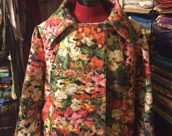 Felted Wool Silk-lined Coat