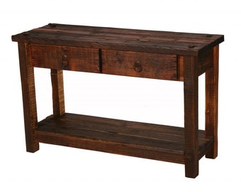 Rustic Table, Sofa Table, Living Room Furniture, Reclaimed Wood Table, Heritage Sofa Table