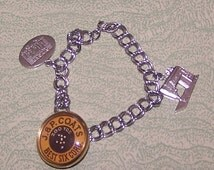 Silver tone charm bracelet sewing charms machine J & P Coats Best Six Cord Singer Sewing Machine store