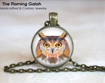 OWL Pendant • Geometric Owl • Owl Face • Owl Head • Wise Owl • Wisdom • Gift Under 20 • Made in Australia (P0296)