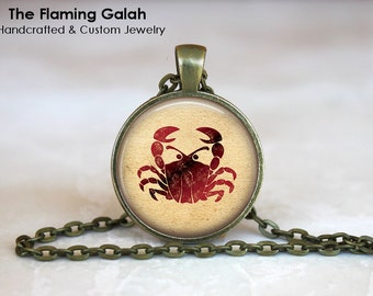 CANCER Zodiac Pendant • Crab Star Sign • Cancer Astrology • July Star Sign • July Birth Sign • Gift Under 20 • Made in Australia (P0313)