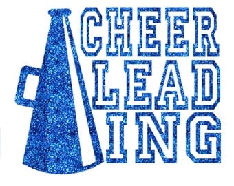 Cheer Megaphone Iron On Decal