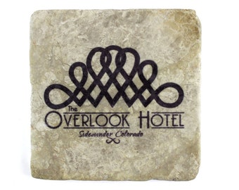 The Shining: The Overlook Hotel Marble Tile Drink Coaster