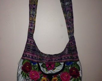 Floral hand bag - medium/large over the shoulder purse