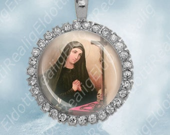 St. Mariana Catholic Christian Medal Pendant Patron Saint Religious Jewelry