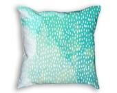 Outdoor Pillow. Mint green outdoor pillow. Ombre green outdoor pillow. Mildew Resistant and Waterproof. 16x16, 18x18, 20x20 pillow