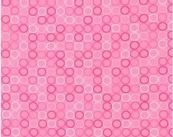 Spot On Pink by Robert Kaufman, Pink Polka Dots, Polka Dots Fabric, Robert Kaufman