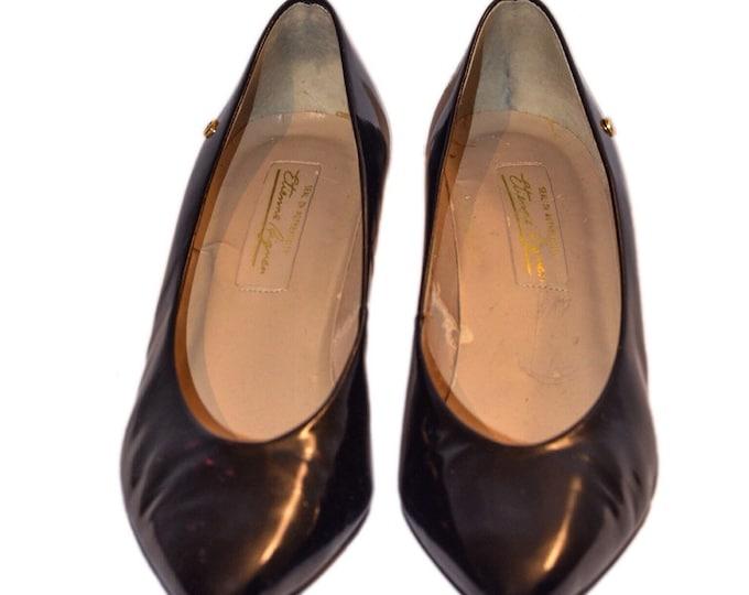 Vintage Estate Etienne Aigner Black Patent Leather Heels Size 7