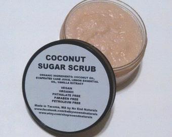 Organic Vegan Coconut Sugar Scrub