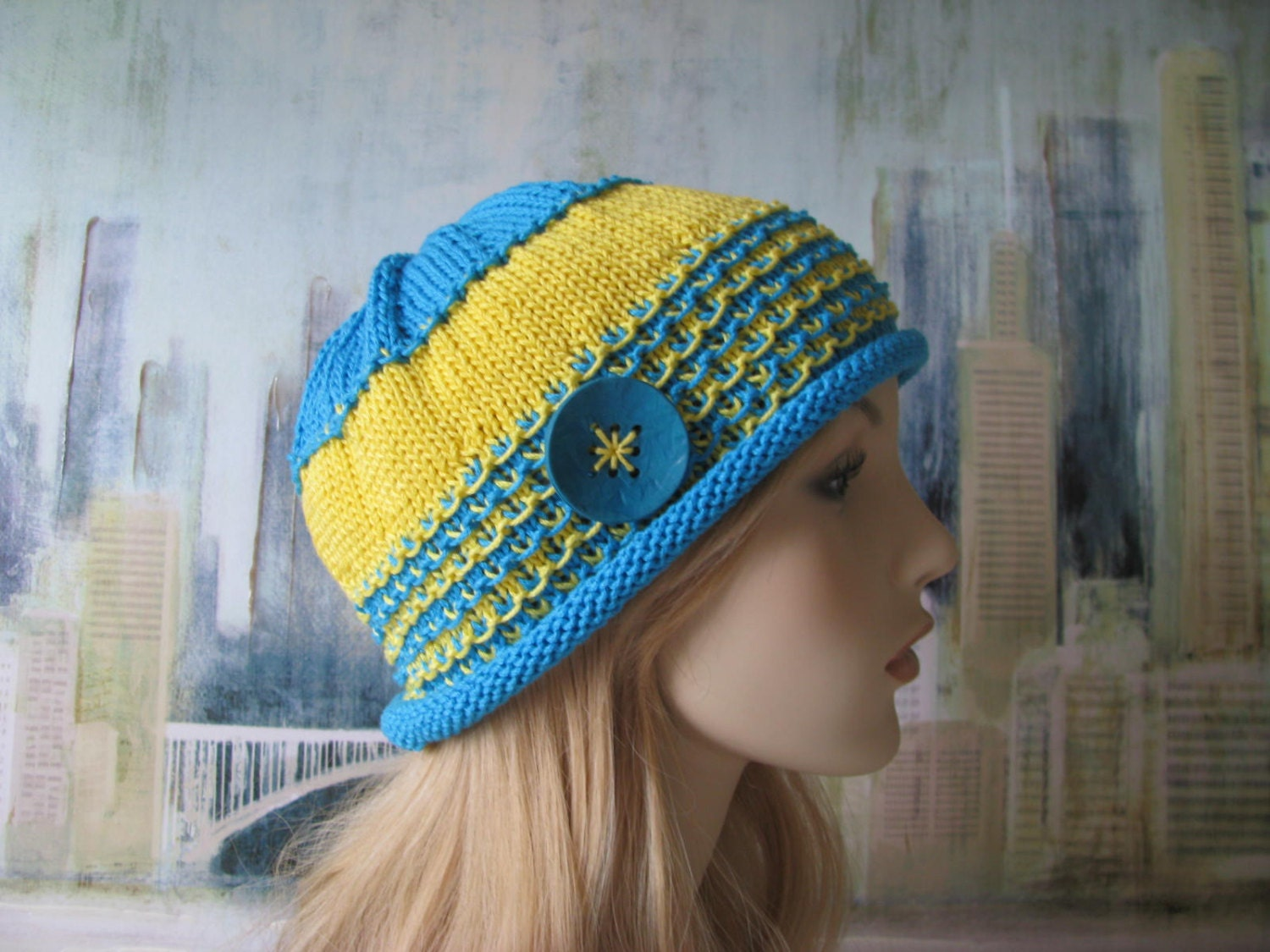Chemo Knitted Hat Patterns : Instant Download Knit Hat Chemo Hat Knitting pattern