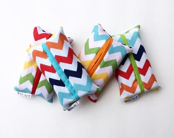 Rainbow Chevron Travel Tissue Case