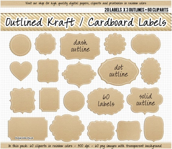 Bewitching image for kraft paper tags printable