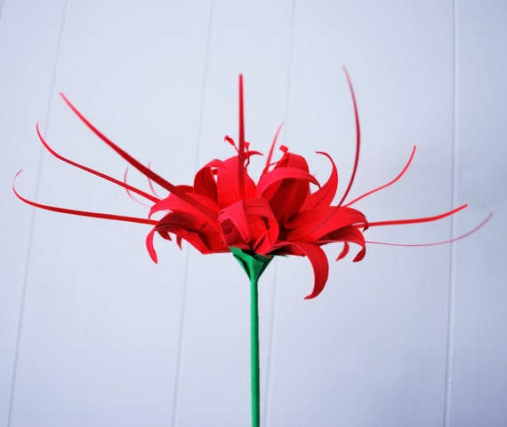 lily paper lily origami lily spider lily centerpiece