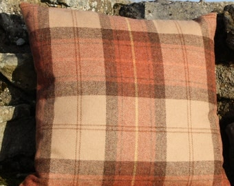 "Wool Plaid Cushion Cover - Rosstweed Aydon - 18""(46cm) Square"