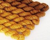 MUSTARD SEED 240 yard gradient yarn mini-skein set, American Sock, superwash, merino, fingering weight, sock yarn, gradient, ombre