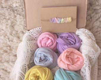 Rainbow baby wrap box, pastel, photo prop, tieback