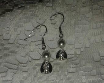 Clip on or pierced Swarovski Pearl Earrings