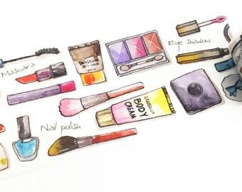 Makeup Tools Washi Tape, Make Up Washi Tape