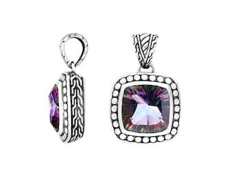 925 Sterling Silver Mystic Topaz Pendant, Necklace Pendant, Wholesale Pricing