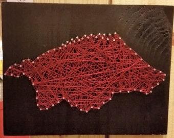 Arkansas Razorback String Art - Hog Silhouette - University of Arkansas - Nail Art Razorback - Handmade in Arkansas - NailedItDesign