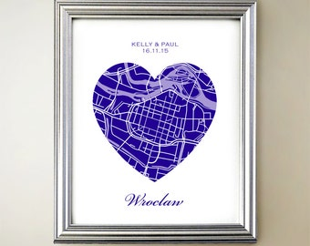 Wroclaw Heart Map