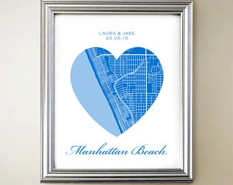 Manhattan Beach Heart Map