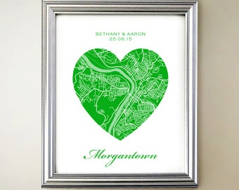 Morgantown Heart Map
