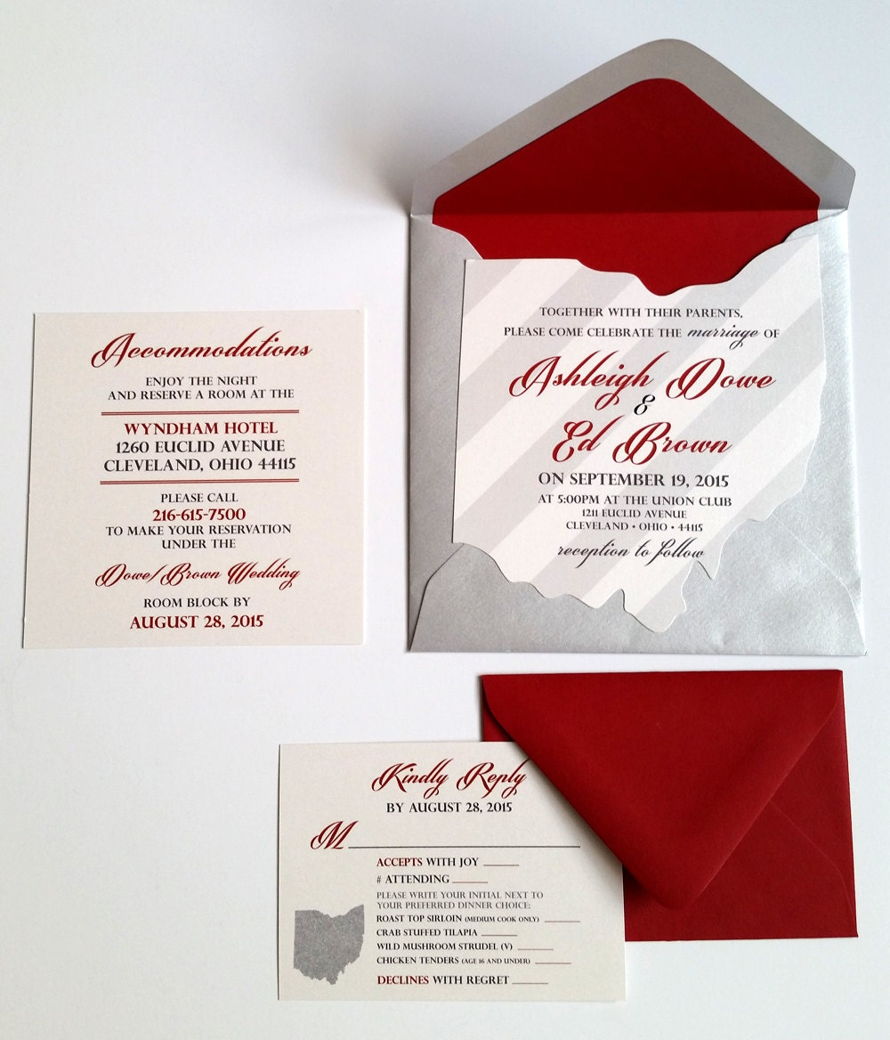 scarlet wedding invitations - 28 images - scarlet and gray wedding ...