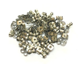 Stainless Steel Earrings Back, Ear Nuts, Pack of 25pairs (50 pieces)