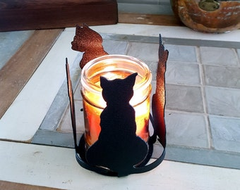 4 Cats Candle Holder