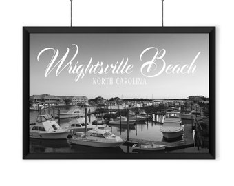 Wrightsville Beach - Black & White Print