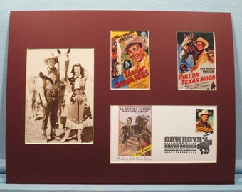"""Western Movie and TV Stars - Roy Rogers, Dale Evans and Trigger in """"Under the Nevada Skies"""" & First Day Cover"""