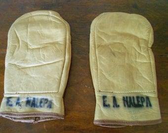 Vintage Handball Gloves