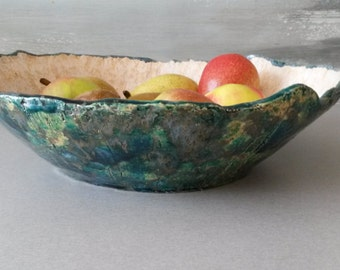 Ceramic Bowl,  Salad Bowl, Big Bowl,  Blue Big Bowl, Pasta Bowl, Serving Bowl, Serving Dish,  Large Blue Bowl, Big Bowl, Bowl, Blue Bowl.