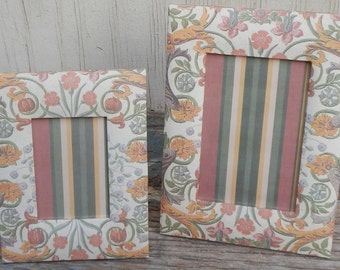 Matching Vintage Paper Picture Frame Pair!